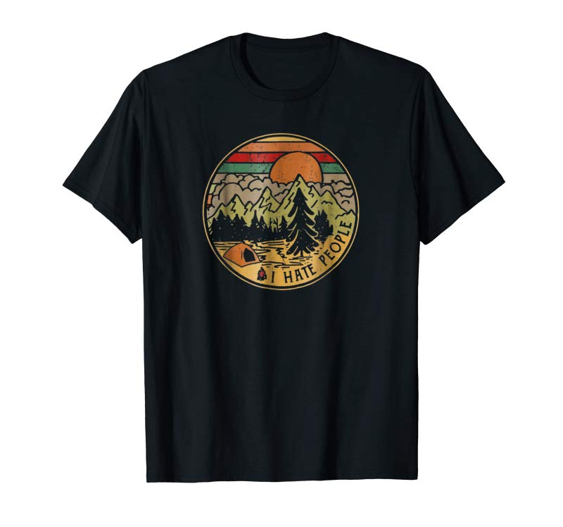 Buy Love Camping I Hate People Camping TShirt