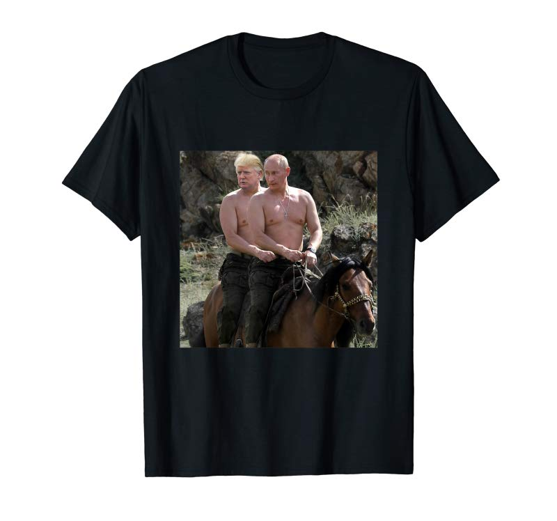 Get Putin Trump Riding Horse T-shirt | Russia Tee
