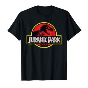 Get Now Jurassic Park Distressed Vintage Logo Graphic T-Shirt