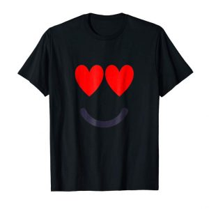 Get Smile Heart Emoji T-Shirt Cute Funny Valentines Day Gift Tee