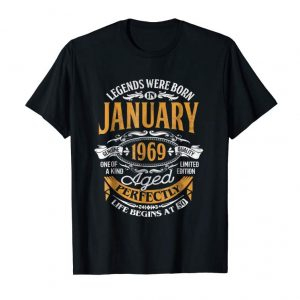 Order Now Legends Were Born In January 1969, 50th Birthday Gift Shirt