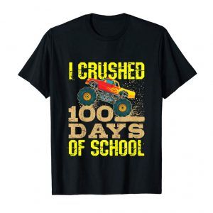 Order Kids I Crushed 100 Days Of School TShirt Boys Monster Truck