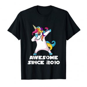 Trending Kids Dabbing Unicorn Shirt Awesome Since 2010 9th Birthday