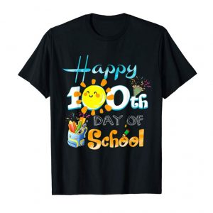 Buy Happy 100th Day Of School Shirt For Teacher & Kid T-Shirt