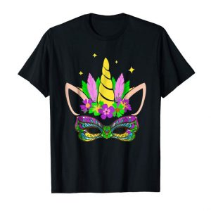 Order Now Unicorn And Mask Mardi Gras Shirt Girl Kid Toodler Women