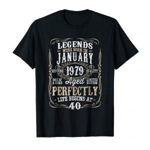 Trending Legends Born JANUARY 1979 40th Awesome Birthday Gift T-Shirt