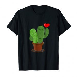 Cool Heart Gift Cactus Lovers Valentines Day Gifts For Him Tshirt