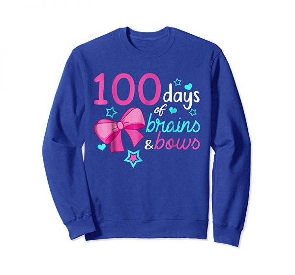 Buy Now 100 Days Of School 100th Day Brains Bows Smarter Kids Shirt