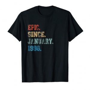 Get Epic Since January 1998 Retro Vintage 21st Birthday Gift