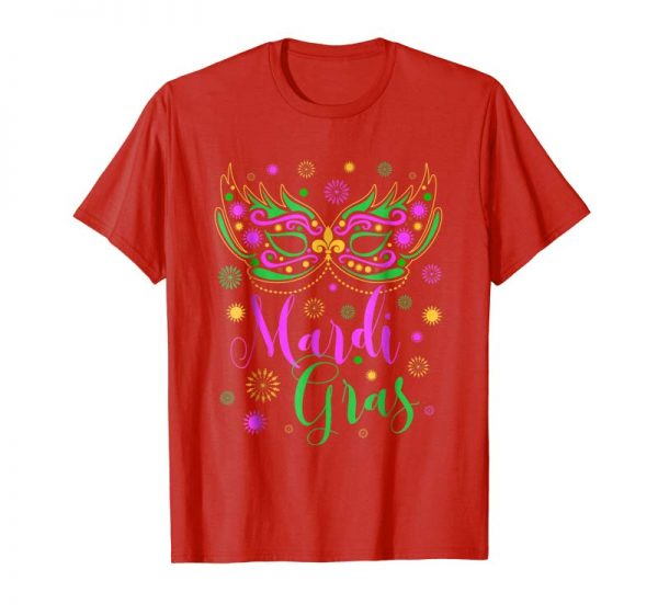 Buy Now Mardi Gras Feathered Mask T-shirt For Women