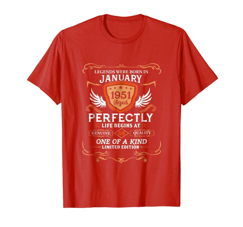Order Now January 1951 68th Birthday Gifts 68 Year Old For Men Women