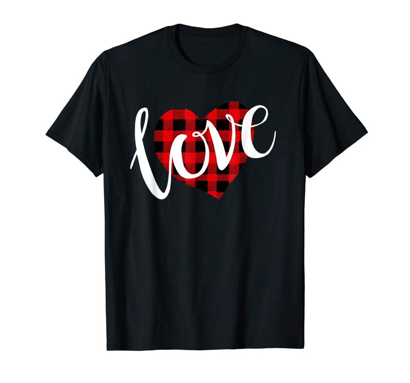 Order Love Buffalo Plaid Heart Valentine Day T-shirt