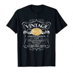 Order Vintage 1959 60th Birthday All Original Parts Gift T-Shirt