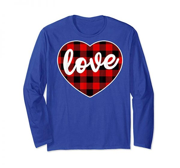 Get Now Valentine's Day Buffalo Plaid Heart Matching Love T Shirt