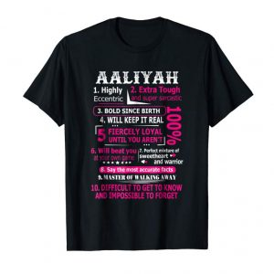 Trends AALIYAH Highly Eccentric 10 Facts T-shirt First Name Tee