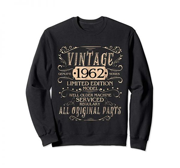 Get Now Vintage 56th Birthday Funny Tshirt 1962 All Original Parts
