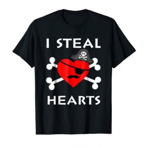 Order I Steal Hearts Shirt-Valentine Day Pirate Heart Gift Boy Kid