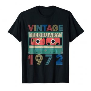 Trends February 1972 Vintage 47th Birthday Gifts T-shirt Decoration