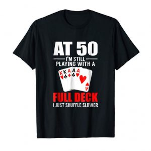 Order Now Poker Player's 50th Birthday Shirt Funny Over The Hill Gift