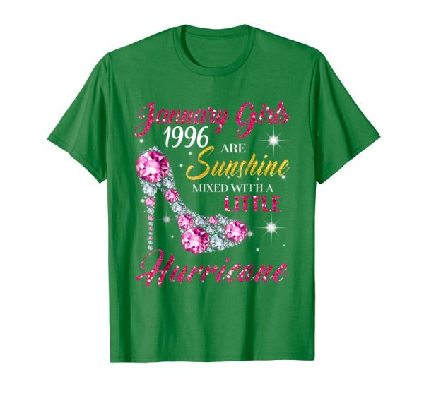 Get Now January Girls 1996 T Shirt 23 Years Old Awesome Since 1996