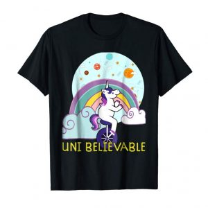 Get Now Unicorn Universe Unicycle Funny Fantasy Graphic T-Shirt