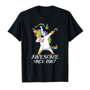 Buy Now Dabbing Unicorn Pirate Awesome Since 2007 11th Birthday Gift