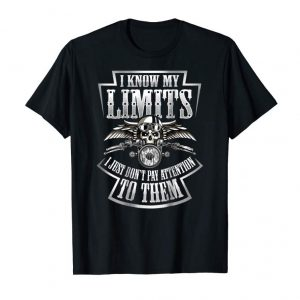 Buy Skull Biker Shirt I Know My Limits Motorcycle Print On Back