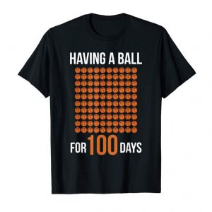 Cool Having A Ball For 100 Days Of School Sport Basketball TShirt
