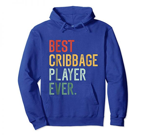 Trends Best Cribbage Player Ever T-Shirt I Funny Pegs Board Games