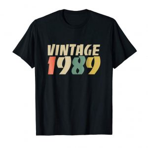 Cool Retro Vintage 1989 30th Birthday Gift Idea T Shirt Men Women