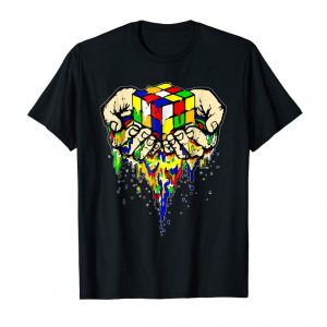 Cool RUBIX CUBE MELTING IN YOUR HANDS AWESOME GRAPHIC T SHIRT