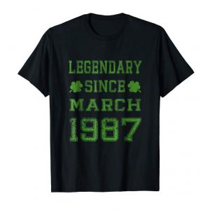 Get Legendary Since March 1987 32nd Birthday Party Idea T-Shirt