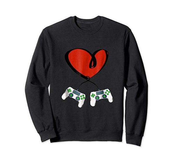 Get Heart Game Controllers | Valentine's Day Gamer T-Shirt