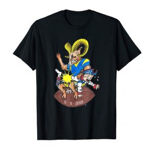 Cool LA Big Game Sunday Football Ram Shirt
