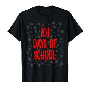 Get 101 Days Of School Dalmatian Dog Spots T-Shirt Smarter