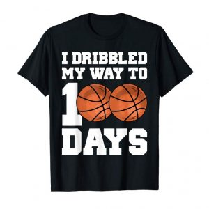 Trending Boy Basketball 100 Days Of School Shirt Player Teacher Gift