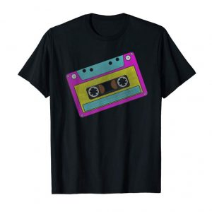 Buy 80s Retro Neon Sign Vintage Cassette Tape Costume T-shirt