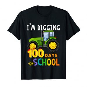 Trending Kids 100 Days Of School - Funny Tractor T-Shirt