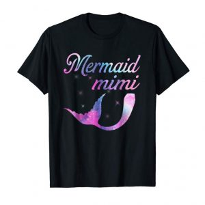 Trends Mermaid Mimi Squad Birthday Party Colorful T-shirt