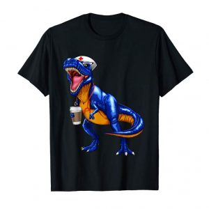 Get Now Nursesaurus T Rex Coffee T Shirt Nurse Saurus Dinosaur Gift