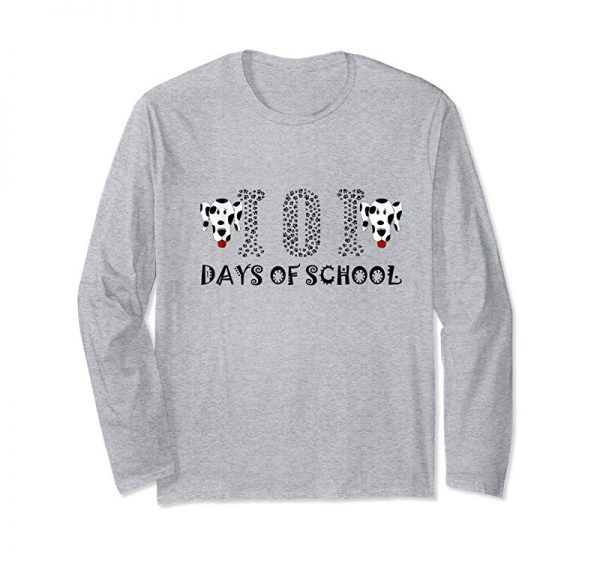 Buy 101 Days Of School Dalmatian Dog Spots T-Shirt Teacher Shirt