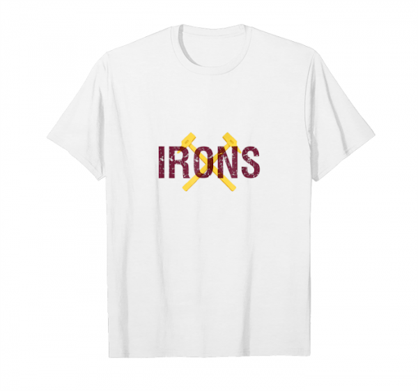 Buy Now West Ham United Irons White Unisex T-Shirt