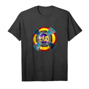 Cool Vintage Gift Flying Disc Funny Metal Rock Band 70s Retro Tee Unisex T-Shirt