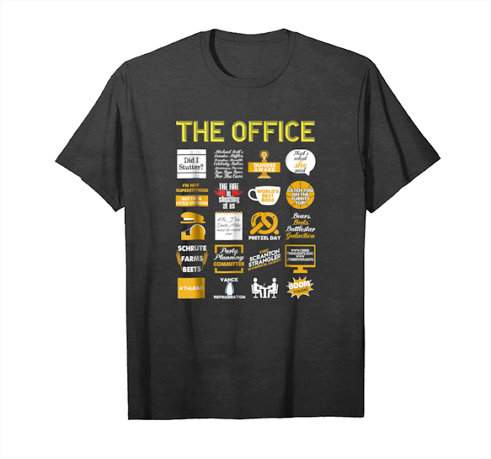 Buy The Office Quote Mash Up Funny Official Tee On Black Unisex T-Shirt