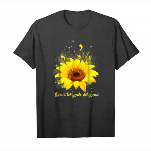 Buy Suicide Prevention Don't Let Your Story End Sunflower Unisex T-Shirt