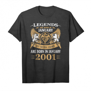 Trends Legends Are Born In January 2001 Men's Funny Gift Unisex T-Shirt