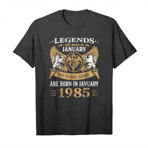 Buy Legends Are Born In January 1985 Men's Funny Gift Unisex T-Shirt