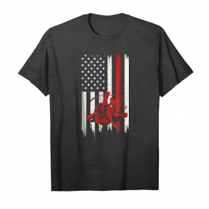 Trends Distressed Aircraft Mechanic Gift With American Flag Unisex T-Shirt