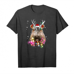 Cool Christmas Lights Hippo Fiona Unisex T-Shirt
