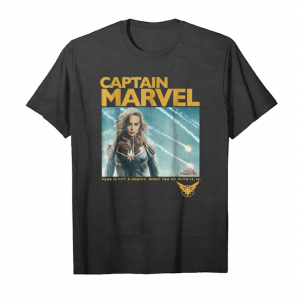 Trends Captain Marvel Vintage Movie Poster Style Graphic Unisex T-Shirt